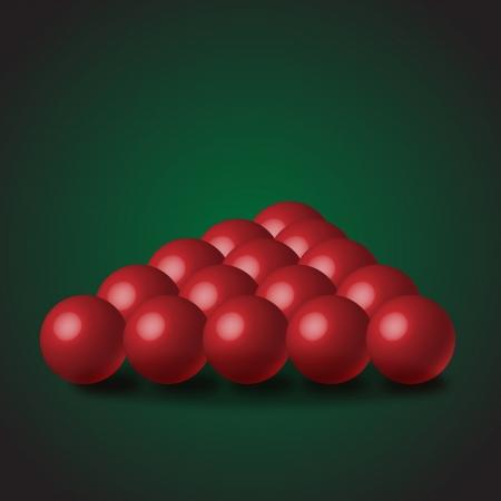 Red Snooker Balls Illustration