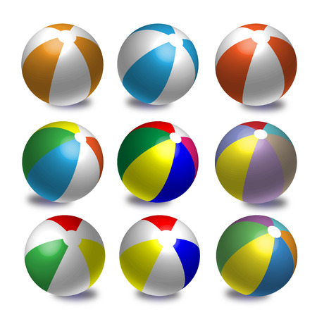 Colourful Beach Balls Stock Vector - 22900092