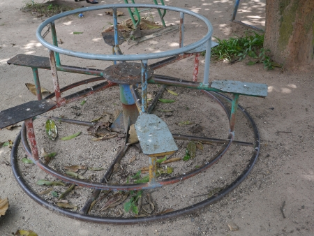 Old go-round playground