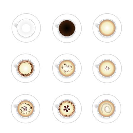 Set of Hot coffee