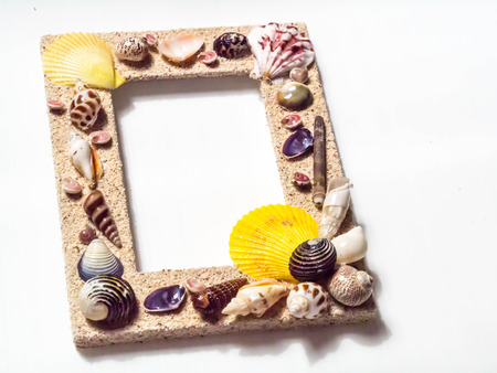 Decorated shell frame