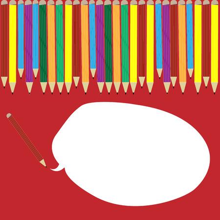 Colored pencil can speak Illustration