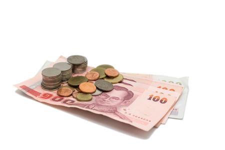 Thai monetary banknotes and coins