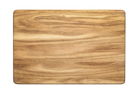 tree cutting: oak tree cutting board Stock Photo
