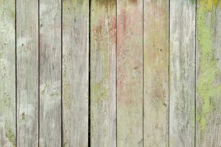 wood fences: Old painted wooden planks Stock Photo