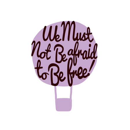 air awareness: Hand draw air balloon. Idea motivator. Concept text inside. Vector doodle invitation background. Vintage celadon greeting card. Doodling style. Inspirational message. Flight of fancy illustration. Illustration