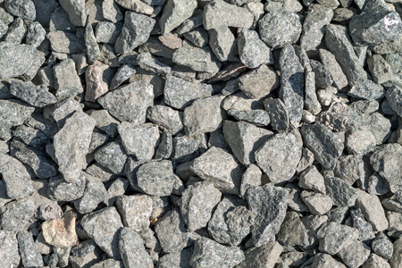 aggregate: Crushed stone background. Top view. View from above.Nature stone pattern. Limestone aggregate. Gravel wallpaper.