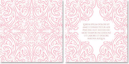 celadon blue: Ornamental hand drawn greeting card template in abstract style. Fairy ethnic birthday, wedding, baby shower party invitation. Can be used as photo books design.Selection of colour schemes- in portfolio