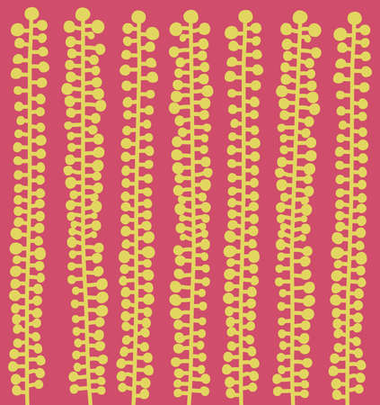 doodling: Vector doodling minimal design plant pattern. Cartoon hand drawn primitive style flowers. Can be used as seamless for wrapping, kids design, fabric print. Selection of colour schemes- in portfolio.