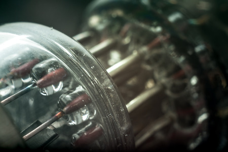 rare: rare vacuum tubes close-up Stock Photo