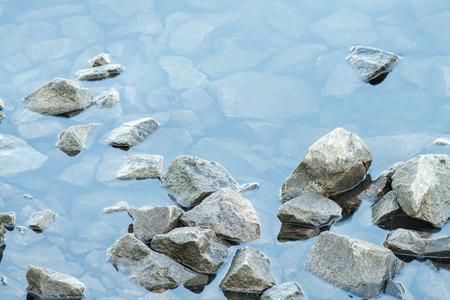 waves  pebble: Crushed stone in a river