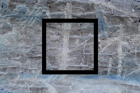 psychedelic background: Black flat square on abstract ground background. Abstract psychedelic background. Stock Photo