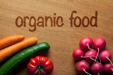 woodburning: organic food Stock Photo