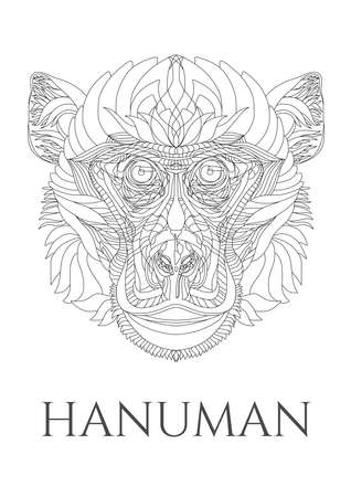 hanuman: Vector meditating Hanuman