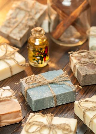 handmade soap: Organic handmade soap.