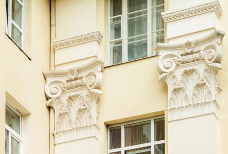 fasade: European antique fasade Stock Photo