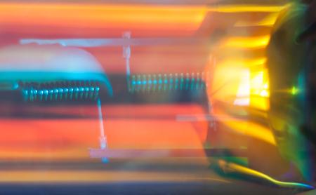 blurry: Blurry abstract futuristic wallpaper. Car headlight macro.