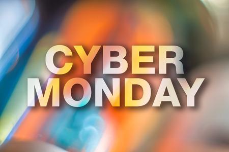 Cyber ??affiche lundi ?? Banque d'images - 69526307