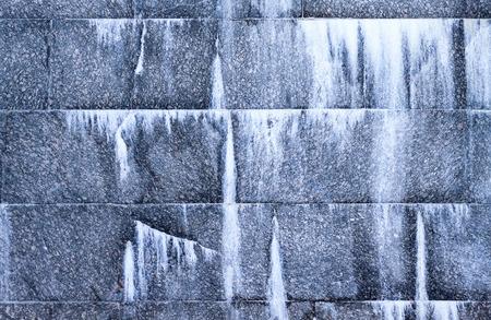 Fragment of granite wall