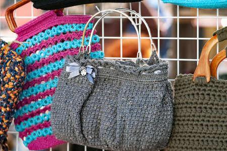 A knitted female bag