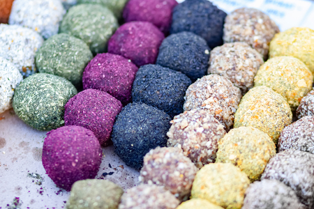Organic natural sweets background.