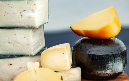 Organic homemade cheese background.
