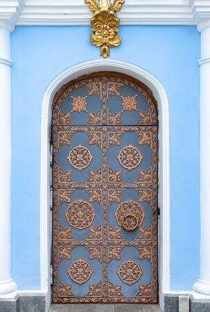 One of the side doors of St. Michael's Golden-Domed Monastery