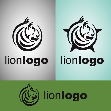royal background: lion logo from from wild life set