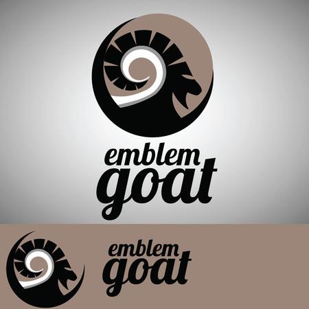 capra: goat from wild life emblem set