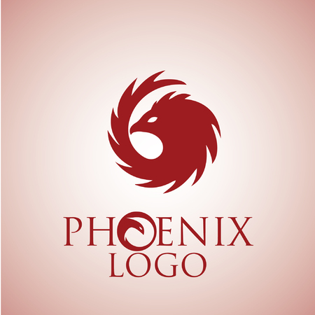 mythical phoenix bird: phoenix logo concept designed in a simple way so it can be use for multiple proposes like logo ,mark ,symbol or icon.