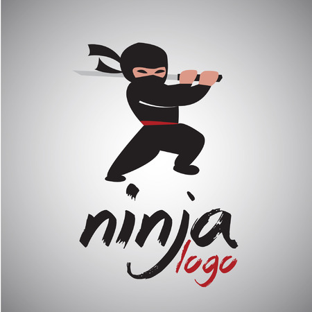 ninja logo concept designed in a simple way so it can be use for multiple proposes like logo ,marks ,symbols or icons.