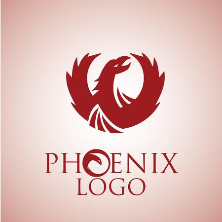 mythical phoenix bird: phoenix 1 Illustration