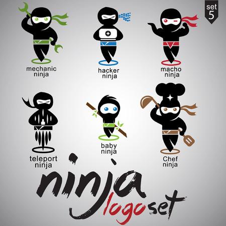 asian man laptop: ninja set 5