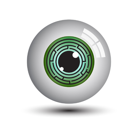eye ball: eye ball vector Illustration