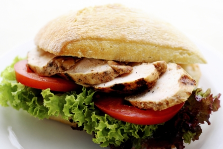 Turkey salad ciabatta photo