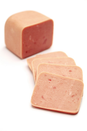 luncheon: Luncheon meat Stock Photo