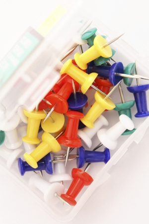 fastening objects: Map pins Stock Photo