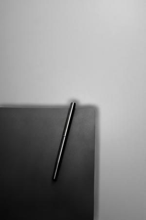 Una pluma unido a un libro photo