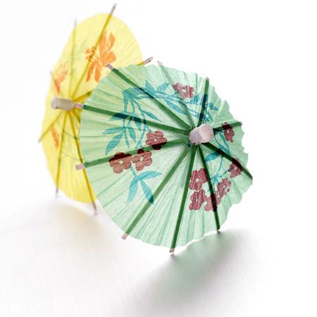 mini umbrella: Close up of two mini umbrellas Stock Photo