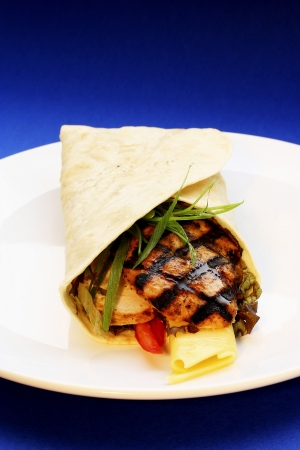 tortilla wrap: Tortilla envoltura Foto de archivo