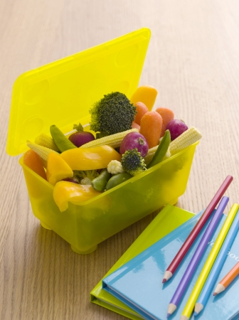 lunch box: Vegetables in a lunch box