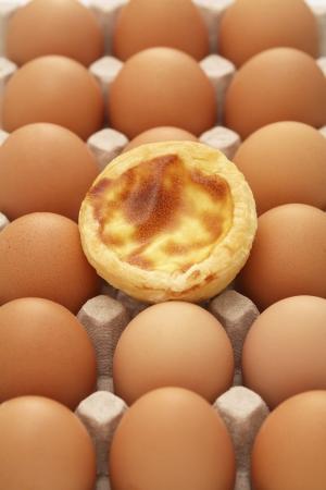 egg tart: Egg tart and eggs
