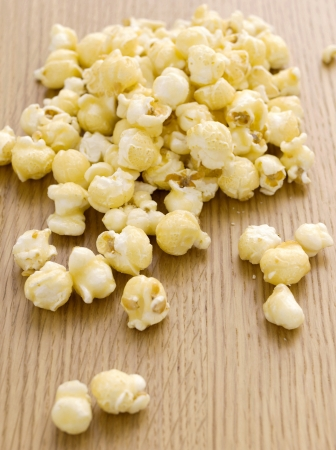 buttered: Buttered popcorn