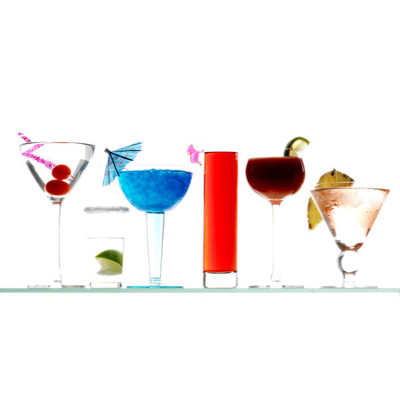 Side view of cocktail varieties photo