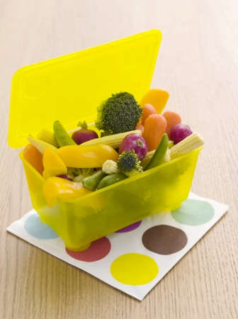 Vegetables in a lunch box photo