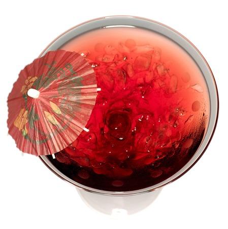 mini umbrella: Vodka and cranberry juice cocktail