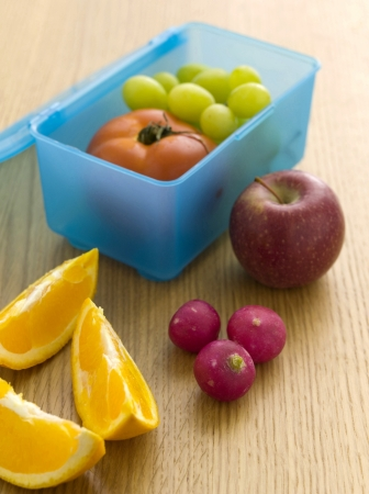 Fruits in a lunch box photo