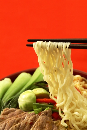 slurp: Ready-to-eat noodles Stock Photo