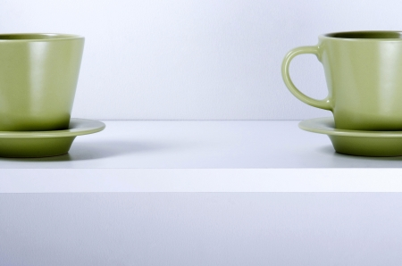 proximity: Cups and saucers Stock Photo