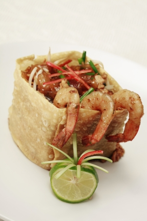 flavoursome: Fried kuey teow noodle in a crispy wheat flour wrap